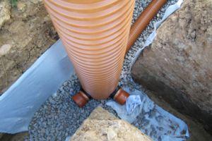 Устройство системы водоотведения